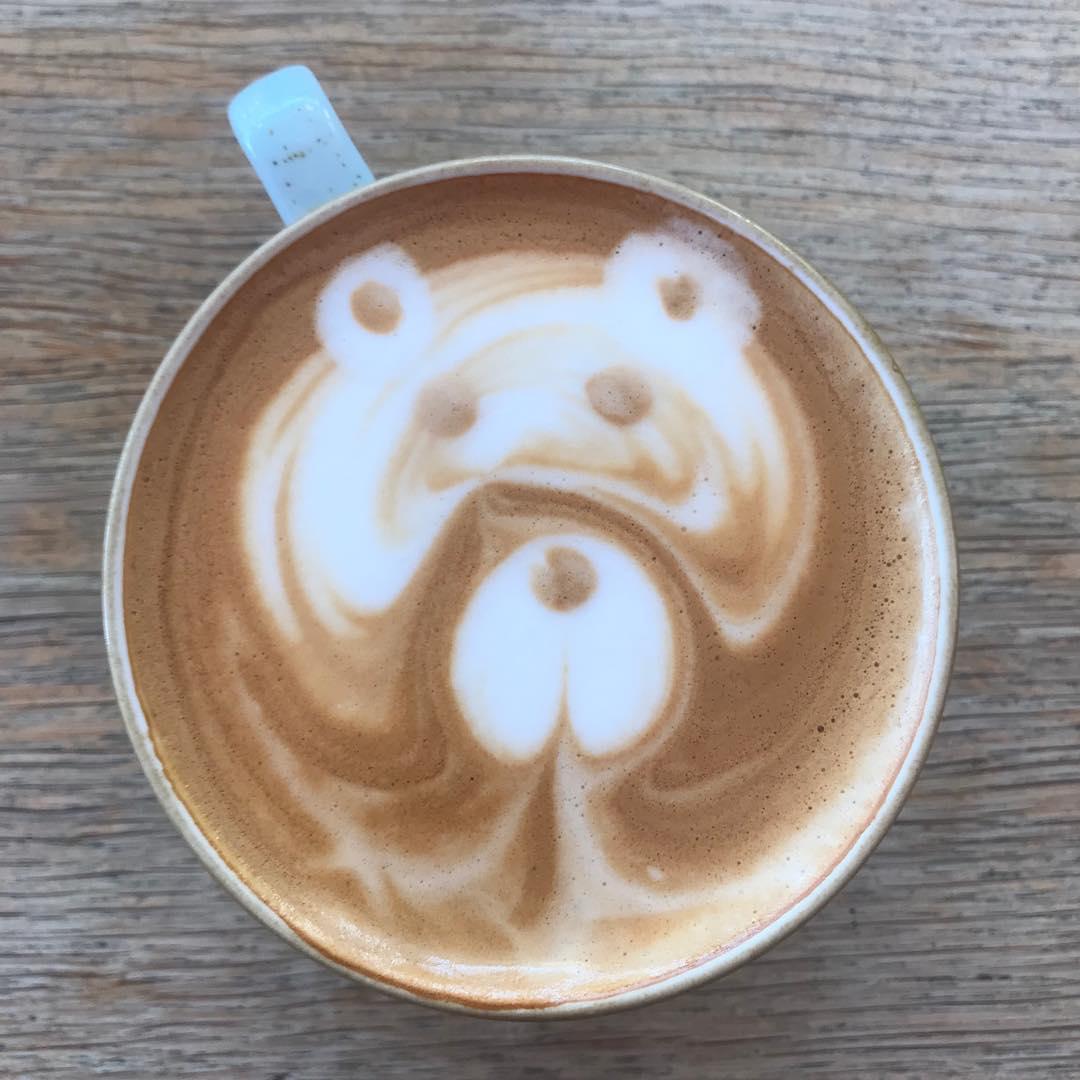 We make bear flat whites now  . . . #flatwhite #bearflatwhite #coffee #latteart #drink #drinks #cumbria #lakedistrict #penrith #carlisle
